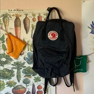 Fjallraven Kanken Black Classic Backpack